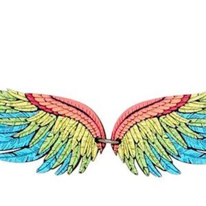 Colorful Macaw Wing Necklace